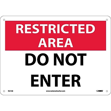 Restricted Area, Do Not Enter, 10