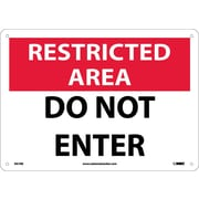 Restricted Area, Do Not Enter, 10X14, Rigid Plastic