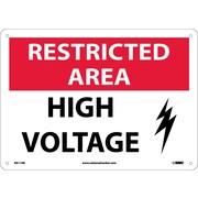 Restricted Area, High Voltage, Graphic, 10X14, .040 Aluminum