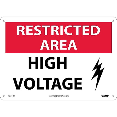 Restricted Area, High Voltage, Graphic, 10