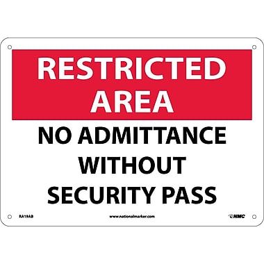 Restricted Area, No Admittance Without Security Pass, 10