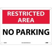 National Marker - Panneau de sécurité Restricted Area, No parking, 10 x 14 po, aluminium 0,04