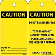 Accident Prevention Tags, Caution, 6X3, Unrip Vinyl, 25/Pk