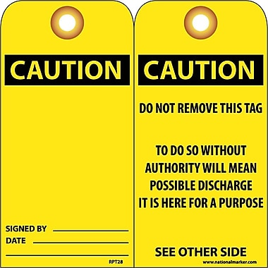 Accident Prevention Tags, Caution, 6