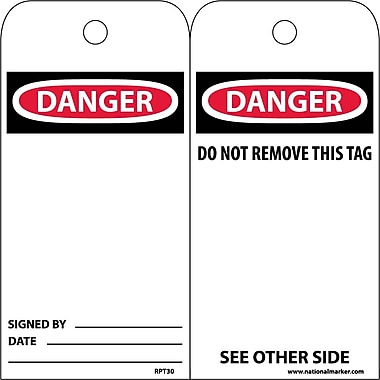 Accident Prevention Tags Danger, 6