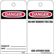 Accident Prevention Tags Danger 6X3 Unrip Vinyl 25/Pk