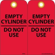Accident Prevention Tags, Empty Cylinder Do Not Use, 6X3, Unrip Vinyl, 25/Pk W/ Grommet