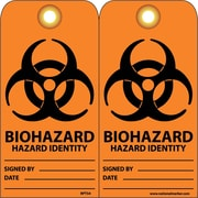 Accident Prevention Tags, Biohazard Hazard Identity, 6X3, Unrip Vinyl, 25/Pk W/ Grommet