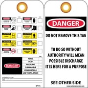 Accident Prevention Tags, Chemical Id, 6X3, Unrip Vinyl, 25/Pk W/ Grommet