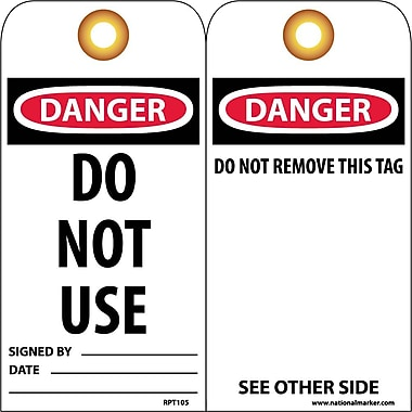 Accident Prevention Tags, Do Not Use, 6