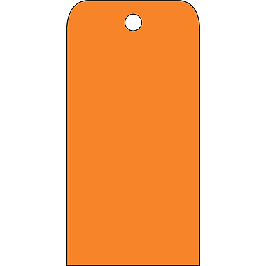 Accident Prevention Tags, Orange Blank, 6X3, .015 Mil Unrip Vinyl, 25 Pk