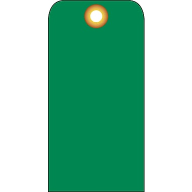 Accident Prevention Tags, Green Blank, 6