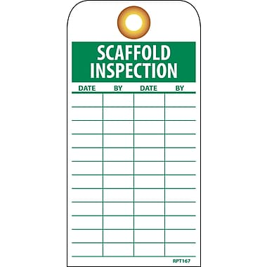 Accident Prevention Tags, Scaffold Inspection, 6