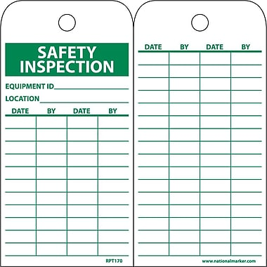 Accident Prevention Tags, Safety Inspection Record,, 6