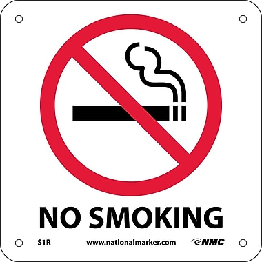 No Smoking (W/ Graphic), 7X7, Rigid Plastic