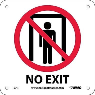 No Exit (W/ Graphic), 7X7, Rigid Plastic