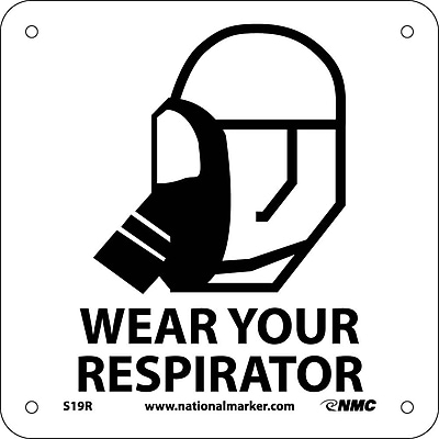 Wear Your Respirator (W/ Graphic), 7X7, Rigid Plastic