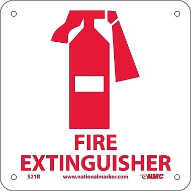 Fire Extinguisher (W/ Graphic), 7X7, Rigid Plastic