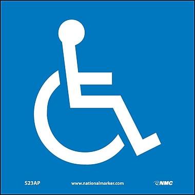Handicapped Symbol, 4X4, Adhesive Vinyl, Labels sold in 5/Pk