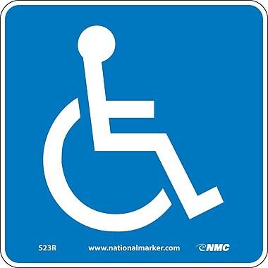 Handicapped (W/ Graphic), 7X7, Rigid Plastic