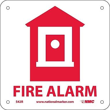 Fire Alarm (W/ Graphic), 7X7, Rigid Plastic