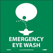 Emergency Eye Wash (Graphic), 4X4, Adhesive Vinyl, Labels sold in 5/Pk