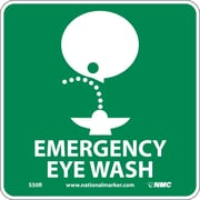 Emergency Eye Wash (W/ Graphic), 7X7, Rigid Plastic