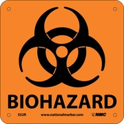Biohazard (W/ Graphic), 7X7, Rigid Plastic