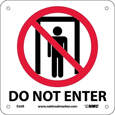 Do Not Enter (W/ Graphic), 7X7, Rigid Plastic
