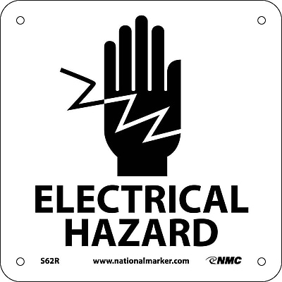 Electrical Hazard (W/ Graphic), 7X7, Rigid Plastic