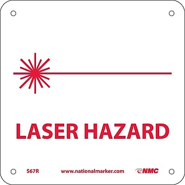 Laser Hazard (W/ Graphic), 7X7, Rigid Plastic