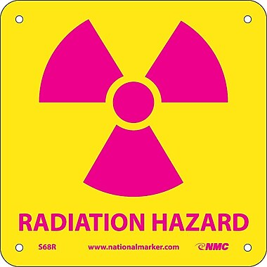 Radiation Hazard (W/ Graphic), 7X7, Rigid Plastic