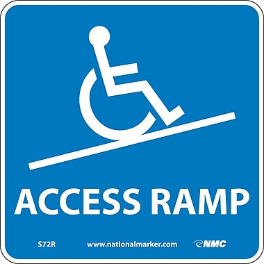 Access Ramp (W/ Graphic), 7X7, Rigid Plastic