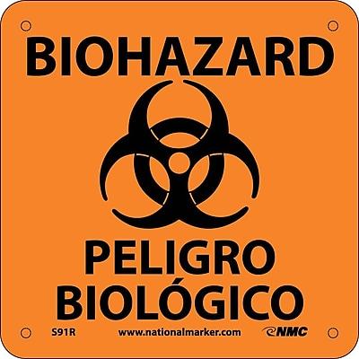 Biohazard Peligro Biologico (Bilingual) (W/ Graphic), 7X7, Rigid Plastic