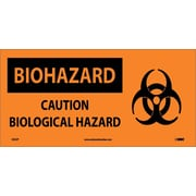 Biohazard, Caution Biological Hazard (W/ Graphic), 7X17, Adhesive Vinyl