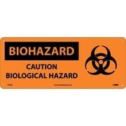 Biohazard, Caution Biological Hazard (W/Graphic), 7X17, Rigid Plastic