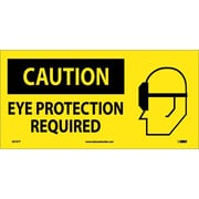 Caution, Eye Protection Required (W/ Graphic), 7X17, Adhesive Vinyl
