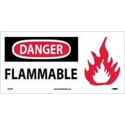 Danger, Flammable (W/ Graphic), 7X17, Adhesive Vinyl
