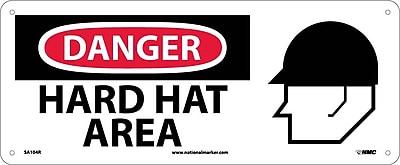 Danger, Hard Hat Area (W/Graphic), 7X17, Rigid Plastic
