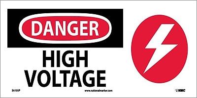 Danger, High Voltage (W/ Graphic), 7X17, Adhesive Vinyl