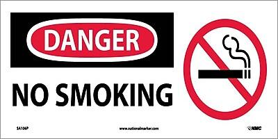 Danger, No Smoking (W/ Graphic), 7X17, Adhesive Vinyl