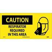 Caution, Respirator Required In This Area (W/ Graphic), 7X17, Adhesive Vinyl