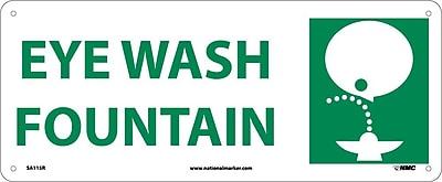Eye Wash Fountain (W/Graphic), 7X17, Rigid Plastic
