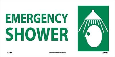 Emergency Shower (W/ Graphic), 7X17, Adhesive Vinyl