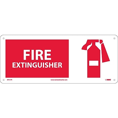 Fire Extinguisher (W/Graphic), 7X17, Rigid Plastic