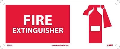 Fire Extinguisher (W/Graphic), 7X17, Rigid Plastic