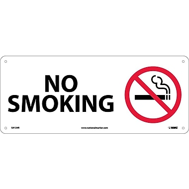 No Smoking (W/Graphic), 7X17, Rigid Plastic