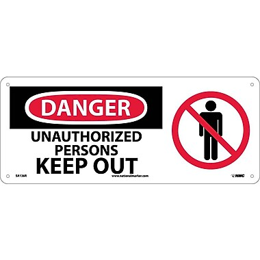 Danger, Unauthorized Persons Keep Out with Graphic, 7