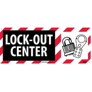 Lock Out Center (W/Graphic), 7X17, Rigid Plastic