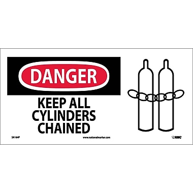 Danger, Keep All Cylinders Chained (W/ Graphic), 7X17, Adhesive Vinyl